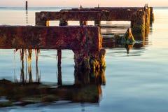 Blijft van de ligplaats voor boten stock foto's