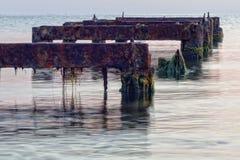 Blijft van de ligplaats voor boten stock fotografie