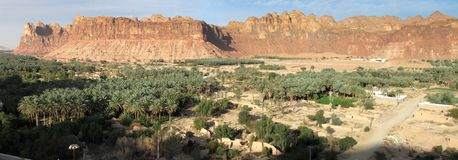Blijft van de oude stad van al-Â'Ula dichtbij Madain Saleh in Saudi-Arabië KSA royalty-vrije stock foto's