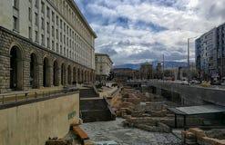 Blijft van de oude stad van Serdica royalty-vrije stock foto's