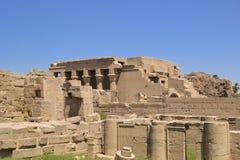 Blijft van de tempel van Dendera Stock Foto's