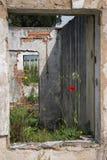 Blijft van een gebouw na Joegoslaafse oorlog Stock Foto's