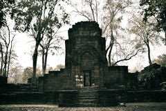 Blijft van een gebouw in Prasat Muang zingen Historisch Park Royalty-vrije Stock Foto