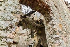 Blijft van een geruïneerd huis Stock Foto's