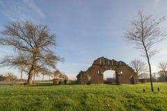 Blijft van een landbouwbedrijf in Winterswijk in het oosten van Nederland Stock Foto