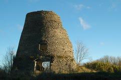 Blijft van een windmolen 1 stock afbeelding