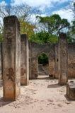 Blijft van Gede, in Kenia, Afrika Stock Foto's