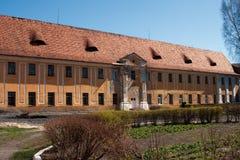 Blijft van het Kasteel Radziwill Stock Afbeeldingen