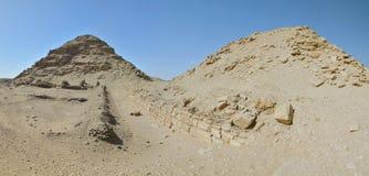 Blijft van het necropool van Memphis in Saqqara Stock Foto's