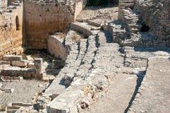 Fragment van Roman Amfitheater in Tarragona, Spanje Stock Foto's
