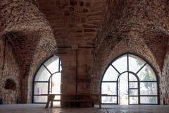 Blijft van muren en gebouwen in de Yehiam-vesting Royalty-vrije Stock Afbeelding