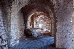 Blijft van muren en gebouwen in de Yehiam-vesting Royalty-vrije Stock Fotografie