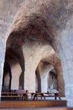 Blijft van muren en gebouwen in de Yehiam-vesting Stock Afbeelding