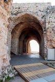 Blijft van muren en gebouwen in de Yehiam-vesting Stock Afbeeldingen