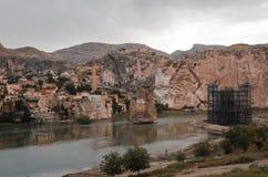 Blijft van oude gebouwen in Hasankeyf, Turkije Royalty-vrije Stock Fotografie