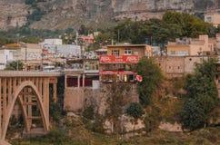 Blijft van oude gebouwen in Hasankeyf, Turkije Royalty-vrije Stock Foto's