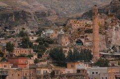 Blijft van oude gebouwen in Hasankeyf, Turkije Royalty-vrije Stock Afbeelding