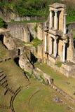 Blijft van Roman Amphitheatre in Volterra Stock Fotografie