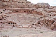 Blijft van Roman Theater, Petra, Jordanië royalty-vrije stock afbeeldingen