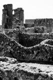 Blijft van stadsmuren van oude stad van Pompei Italië Stock Foto