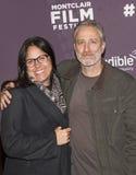 Blijspelacteur Jon Stewart en vrouw Tracey Stewart Stock Fotografie