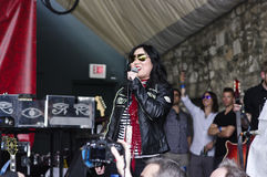 Blijspelacteur Margaret Cho Introduces Courtney Love Royalty-vrije Stock Afbeelding