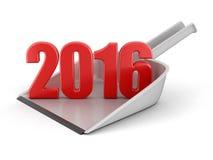 Blik en 2016 (het knippen inbegrepen weg) Stock Afbeeldingen