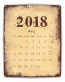 2018 Blikkalender Mei Royalty-vrije Stock Foto's
