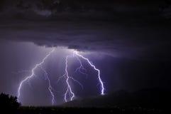 Bliksem in de Vallei van Tucson Royalty-vrije Stock Foto's