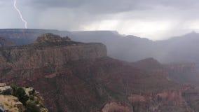 Bliksem in Grand Canyon Stock Foto's