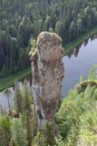 Blikseminslag in de serie Usvinskie Polen. Stock Afbeelding