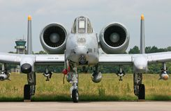 A-10 blikseminslag II vechtersstraal stock foto's