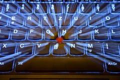 Bliksemtoetsenbord Royalty-vrije Stock Foto's