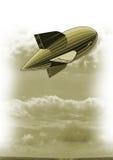 Blimp in sky Royalty Free Stock Image