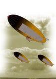 Blimp in sky Stock Photo