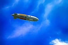 The blimp Zeppelin fly over Stein am Rhein, Switzerland Stock Photo