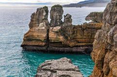 Blin skały w Punakaiki, Nowa Zelandia Obrazy Royalty Free