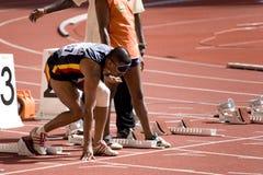 Blind Athlete stock image