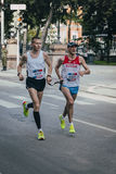 Blind athletes run Stock Images