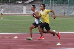 Blind athletes Royalty Free Stock Photos
