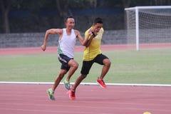 Blind athletes Royalty Free Stock Photo