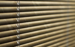 Blind blurred. Horizontal blind in brown, for abstract background Royalty Free Stock Images