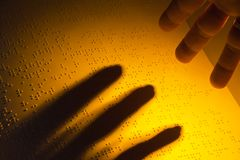 blind bok braille Royaltyfria Foton