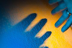 blind bok braille Arkivbild