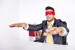 Blind businessman Royalty Free Stock Photography
