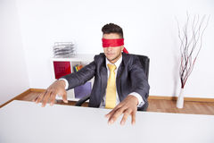 Blind businessman Royalty Free Stock Image