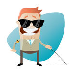 Blind cartoon man. Illustration of a blind cartoon man Royalty Free Stock Images