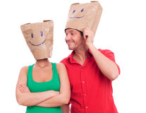Blind date royalty free stock images