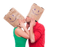 Blind date royalty free stock photo