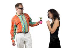 Blind Date Royalty Free Stock Photos